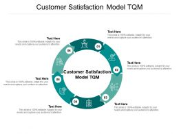 Customer Satisfaction Model TQM Ppt Powerpoint Presentation Infographics Example File Cpb