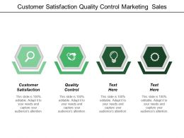 Customer Satisfaction Quality Control Marketing Sales Aggressive Marketing