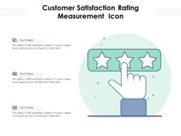 Customer Satisfaction Rating Measurement Icon