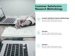 Customer Satisfaction Research Methodology Ppt Powerpoint Presentation Model File Formats Cpb