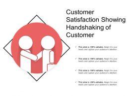 Customer Satisfaction Showing Handshaking Of Customer