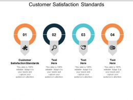 Customer Satisfaction Standards Ppt Powerpoint Presentation Pictures Maker Cpb