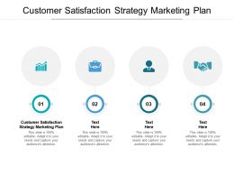 Customer Satisfaction Strategy Marketing Plan Ppt Powerpoint Presentation Outline Icons Cpb