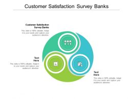 Customer Satisfaction Survey Banks Ppt Powerpoint Presentation Slides Elements Cpb