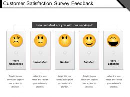 Customer Satisfaction Survey Feedback Ppt Slide Styles