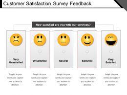 Customer Satisfaction Survey Feedback Ppt Slide Styles