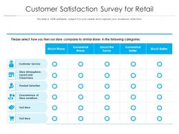 Customer Satisfaction Survey For Retail