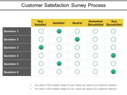 Customer Satisfaction Survey Process Ppt Slide Themes
