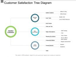 Customer Satisfaction Tree Diagram