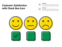 Customer Satisfaction With Check Box Icon