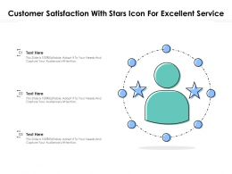 Customer Satisfaction With Stars Icon For Excellent Service