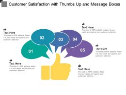 Customer Satisfaction With Thumbs Up And Message Boxes