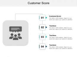 Customer Score Ppt Powerpoint Presentation Pictures Styles Cpb