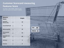 Customer Scorecard Measuring Features Score