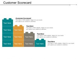 Customer Scorecard Ppt Powerpoint Presentation Infographic Template Background Image Cpb