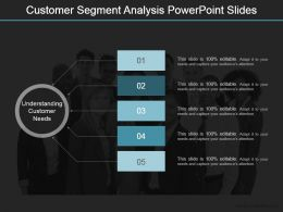 Customer Segment Analysis Powerpoint Slides