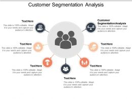 Customer Segmentation Analysis Ppt Powerpoint Presentation Icon Summary Cpb