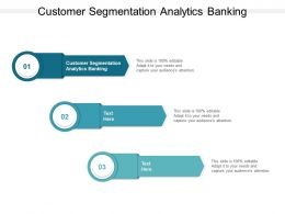 Customer Segmentation Analytics Banking Ppt Powerpoint Presentation Mockup Cpb
