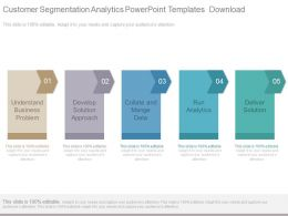 Customer Segmentation Analytics Powerpoint Templates Download