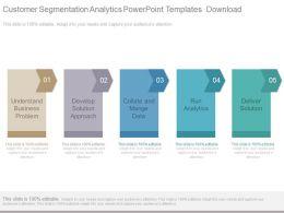 Customer Segmentation Analytics Powerpoint Templates Download