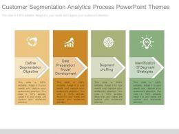 Customer Segmentation Analytics Process Powerpoint Themes