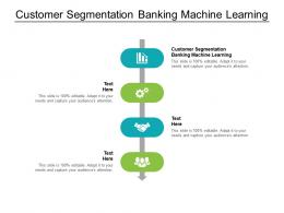 Customer Segmentation Banking Machine Learning Ppt Powerpoint Presentation Model Format Ideas Cpb