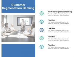 Customer Segmentation Banking Ppt Powerpoint Presentation Examples Cpb