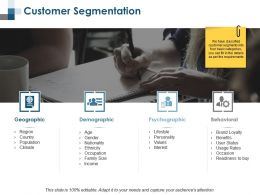 Customer Segmentation Behavioural Ppt Summary Background Designs