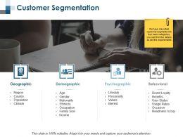 Customer Segmentation Behavioural Ppt Summary Background Designs