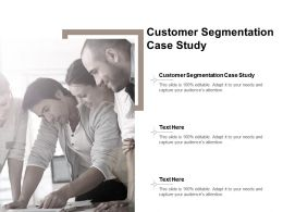 Customer Segmentation Case Study Ppt Powerpoint Presentation Portfolio Layout Cpb