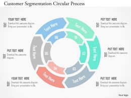 Customer Segmentation Circular Process Flat Powerpoint Design