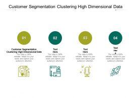 Customer Segmentation Clustering High Dimensional Data Ppt Powerpoint Presentation Cpb