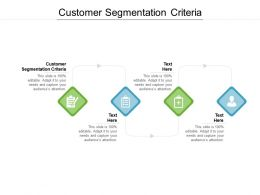 Customer Segmentation Criteria Ppt Powerpoint Presentation Pictures Slides Cpb