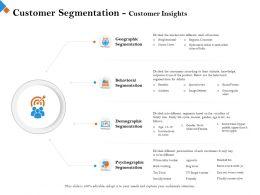 Customer Segmentation Customer Insights Below Are Ppt Powerpoint Presentation Slides
