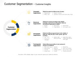 Customer Segmentation Customer Insights Image Seekers Ppt Powerpoint Presentation Model Graphics