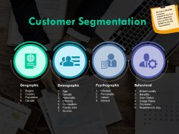 Customer Segmentation Demographic Ppt Powerpoint Presentation Outline Samples