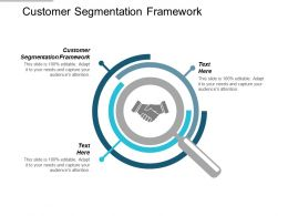 Customer Segmentation Framework Ppt Powerpoint Presentation Infographics Model Cpb