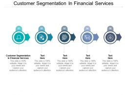 Customer Segmentation In Financial Services Ppt Powerpoint Presentation Slides Cpb