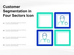 Customer Segmentation In Four Sectors Icon