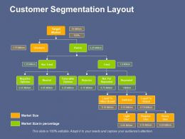Customer Segmentation Layout Information Architecture Blueprint Ppt File Deck