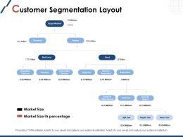 Customer Segmentation Layout Market Size Ppt Powerpoint Presentation File Slides