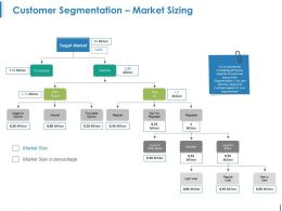 Customer Segmentation Market Sizing Ppt Icon