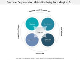 Customer Segmentation Matrix Displaying Core Marginal And Opportunistic Customer