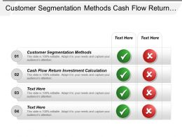Customer Segmentation Methods Cash Flow Return Investment Calculation Cpb