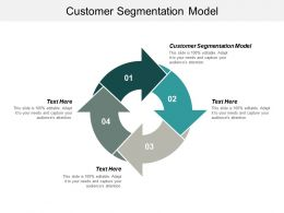 Customer Segmentation Model Ppt Powerpoint Presentation Pictures Demonstration Cpb