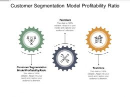Customer Segmentation Model Profitability Ratio Ppt Powerpoint Presentation Deck Cpb