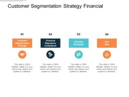 Customer Segmentation Strategy Financial Regulatory Compliance Diversity Strategies Cpb