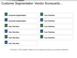 Customer Segmentation Vendor Scorecards Compensation Analysis Budgeting Planning