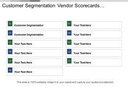 Customer Segmentation Vendor Scorecards Compensation Analysis Budgeting Planning