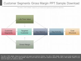 Customer Segments Gross Margin Ppt Sample Download